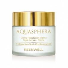 Keenwell Aquasphera Intense Moisturizing Triple Action Cream-Night Ночной интенсивно увлажняющий крем тройного действия, 80 мл